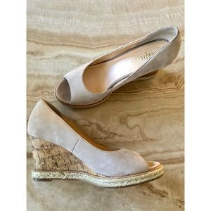 Cole Haan | Open Toe Cork Wedges Size 8.5